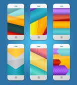 Vector Mobile Phones Arrows Backgrounds.