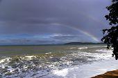 Rainbow And Sea.