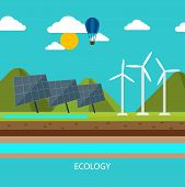 Renewable energy like hydro, solar and wind power