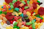 multicolor candies for background