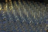 Empty Wine Glasses on Display