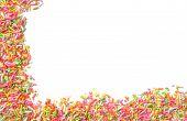 Candy Sprinkles Frame Background