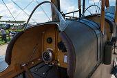 Cockpit Of Vintage Raf Be2C British Fighter