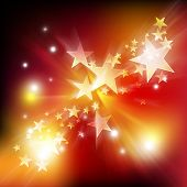 Motion Star And Glitter Background