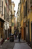 Narrow Street Of Old Town In Nice, France