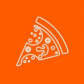 Vector Pizza Icon. Eps10