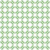 green seamless pattern with monsters, background.
