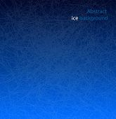 Abstract Vector Dark Blue Scratched Ice Background