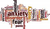 picture of trauma  - Anxiety word cloud concept - JPG