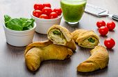 Mini Calzone Roll With Herbs And Cheese