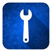 tools flat icon, christmas button, service sign