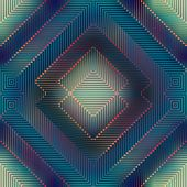 Geometric matrix pattern on blurred background.