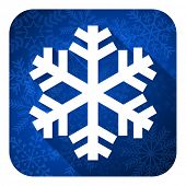 snow flat icon, christmas button, air conditioning sign