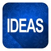 ideas flat icon, christmas button