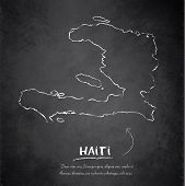 Haiti map blackboard chalkboard vector