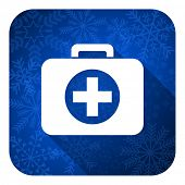 first aid flat icon, christmas button, hospital flat icon, christmas button