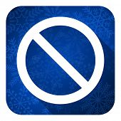 access denied flat icon, christmas button