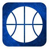 ball flat icon, christmas button, basketball sign