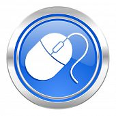 computer mouse icon, blue button