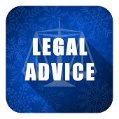 legal advice flat icon, christmas button, law sign