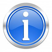 information icon, blue button