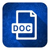 doc file flat icon, christmas button