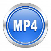 mp4 icon, blue button
