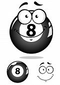 Gray eight pool ball character