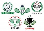 Assorted tennis tournament symbols