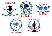 Ice hockey heraldic emblems and badges