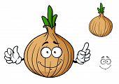 Cartoon onion vegetable character