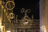 The tightrope on the circle of light, Turin