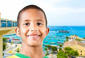 Little Brazilian boy smiling in Salvador, Bahia, Brazil.