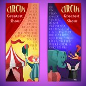 Circus banner vertical