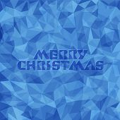 Merry Christmas greeting card. Abstarct background. Vector illustration