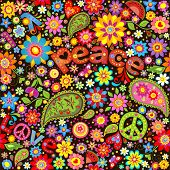 picture of hippy  - Wallpaper with hippie symbolic - JPG