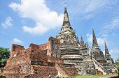 Wat Phra Sri Sanphet temple, Ayutthaya, Thailand .