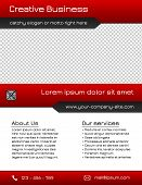 Business multipurpose flyer template - red and grey
