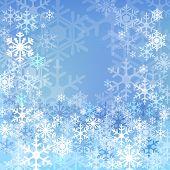 Blue Snow Background