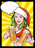 Christmas Beer Girl Comics