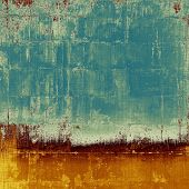Vintage textured background. With different color patterns: yellow; orange; brown; blue