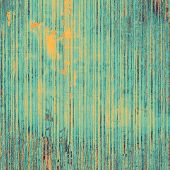 Old-style background, aging texture. With different color patterns: yellow; orange; blue