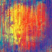 Aging grunge texture, old illustration. With different color patterns: blue; purple (violet); orange; red; yellow