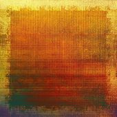Aged grunge texture. With different color patterns: green; orange; red; brown; yellow