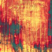 Old background or texture. With different color patterns: green; orange; red; yellow