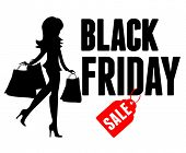 Black Friday Sale advertisement. Vector Illustration for your business design.