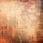 Art grunge vintage textured background. With different color patterns: gray; orange; brown; yellow