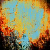 Grunge background or texture for your design. With different color patterns: blue; orange; red; yellow