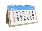 Monthly Calendar For Year 2015. January