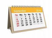 Monthly Calendar For Year 2015. September